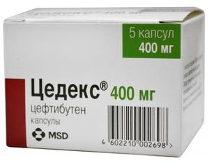 Препарат Цедекс в упаковке - современные антибиотики