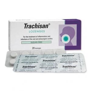 Таблетки для рассасывания Трахисан при боли в горле