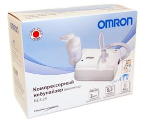 Удобный и недорогой ингалятор OMRON NE-C24 компрессорного типа