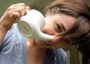 Промывание носа при насморке