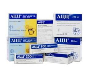 АЦЦ – отхаркивающее муколитическое средство