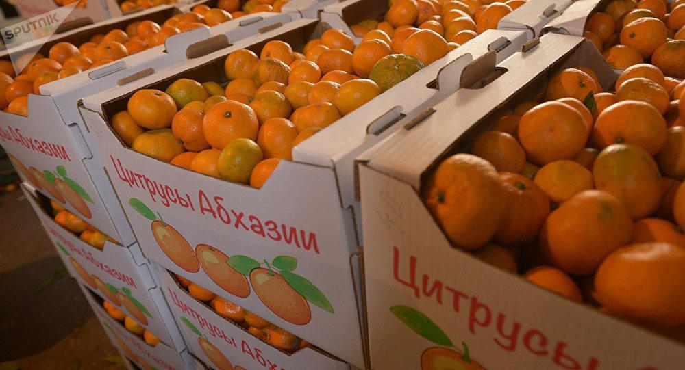 Транспортировка мандаринов