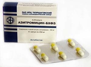 Азитромецин БХФЗ - инструкция, противопоказания, дозировка