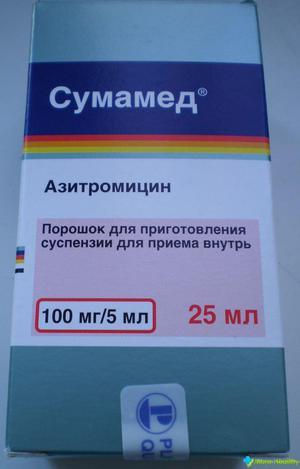 Прием препарата сумамед