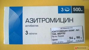 Стоимость Азитромицина