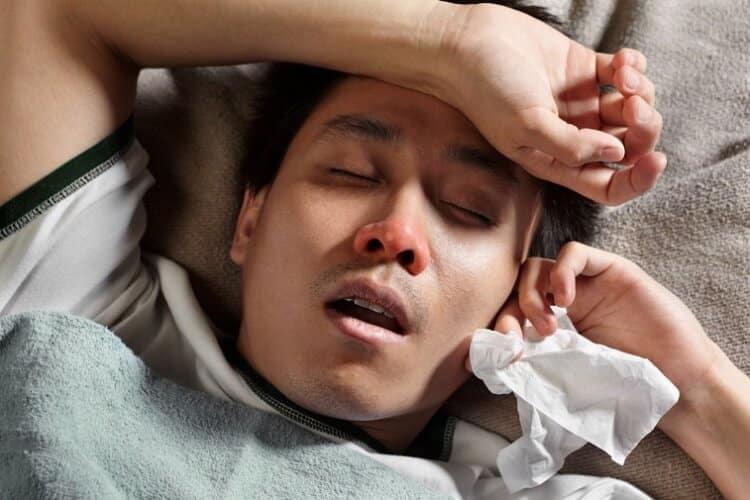 Интоксикация у заболевшего коронавирусом