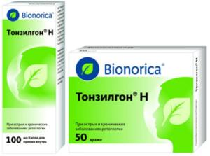 Тонзилгон - для лечения лор - заболеваний